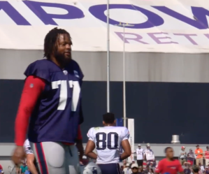 Michael Bennett - Patriots Training Camp