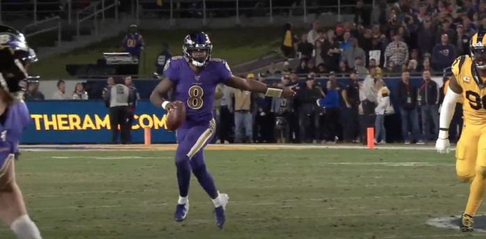 Lamar Jackson vs Rams
