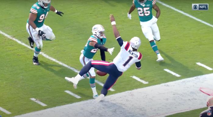 Cam Newton vs Dolphins — 2020 Week 15