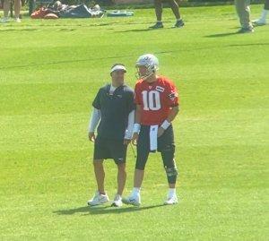 Mac Jones and Josh McDaniels